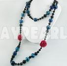 mångfasetterade agat halsband