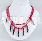 blod sten svart agat halsband