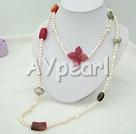 barock pärla multi-sten halsband