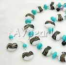 Wholesale turquoise colored glaze jewelry sets