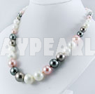 Seashell bead necklace