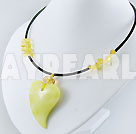 lemon stone necklace