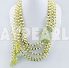 Wholesale pearl peridot jade necklace