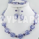 crystal colored glaze set