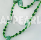 crystal brazil green agate necklace