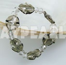 Elastic crystal colored glaze bracelet