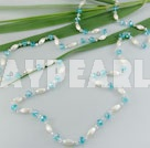 crystal acrylic pearl necklace