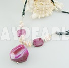 pearl agate necklace