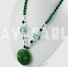agate phenix stone necklace