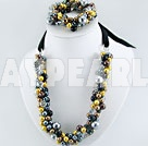 Wholesale acrylic pearl crystal set