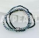 Wholesale Elastic pearl crystal bracelet