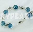 Wholesale blue agate bracelet
