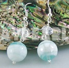 manmade crystal  colored glaze earrings