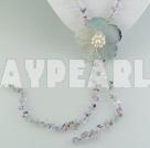 Wholesale rainbow fluorite shell necklace
