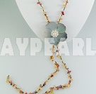 Wholesale agate shell necklace