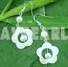 Wholesale pearl shell earring