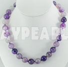 Wholesale streak purple agate necklace