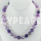 streak purple agate necklace