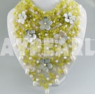 pearl olivine necklace