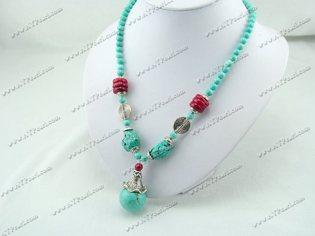 coral turquoise necklace