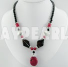 black agate coral necklace