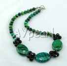 Wholesale Gemstone Jewelry-phoenix stone black agate necklace