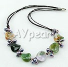garnet india agate necklace