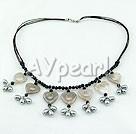 Pearl och agat halsband