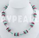 Wholesale Coral turquoise necklace