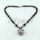 black agate phenix stone necklace