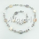 Wholesale Coin pearl crystal agate set