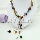 Wholesale multi-stone crystal necklace