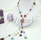 färgad multi-sten halsband