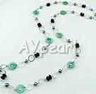 Black Pearl blå jaspis halsband