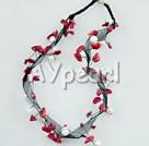 korall pärla halsband