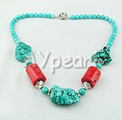Wholesale turquoise coral necklace