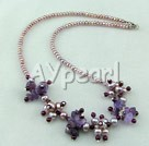 Wholesale garnet pearl amethyst necklace