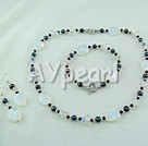Wholesale garnet pearl opal crystal sets