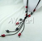 black pearl coral necklace