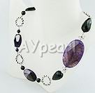 Wholesale Gemstone Jewelry-Dyed botswana Agate necklace