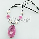 Wholesale Gemstone Jewelry-pearl botswana agate(dyed) necklace