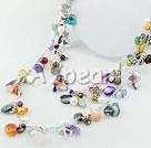 clored pearl multi-sten halsband
