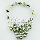 Grön granat pärla armband