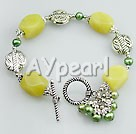 Wholesale Gemstone Jewelry-Peridot pearl bracelet