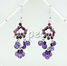 Wholesale garnet amethyst earrings