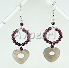 Wholesale garnet agate earrings
