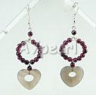 Wholesale garnet agate earrings