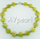 Wholesale Gemstone Jewelry-pearl peridot jade necklace