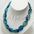 persian blå agat halsband