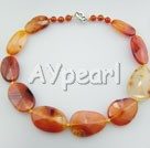 Wholesale Gemstone Jewelry-faceted agate necklace